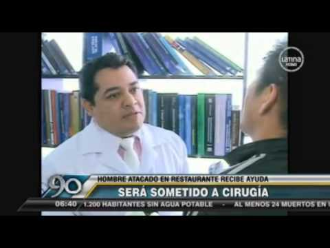 90 SEGUNDOS: DR. CÉSAR CALDERÓN ALFARO WILL DO A FREE SURGERY TO A DISFIGURED MAN.